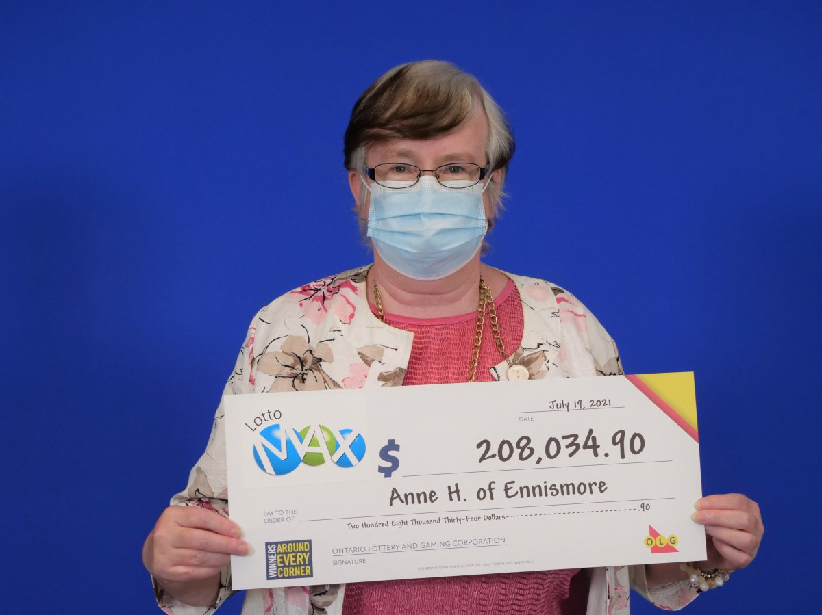 Anne Hickey of Ennismore has $208,034.90 to put toward her dreams after winning a Lotto Max second prize in the Sept. 8, 2020 draw.