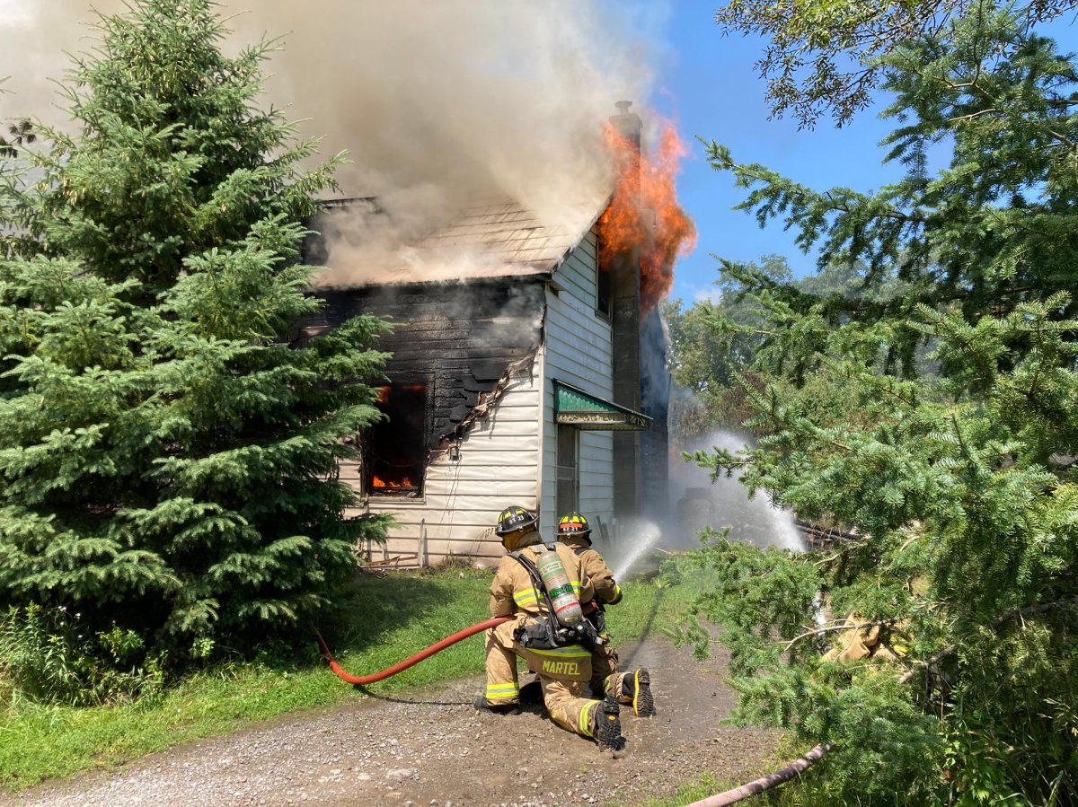 Ottawa Fire Services battled a house fire on Malakoff Road on Friday.