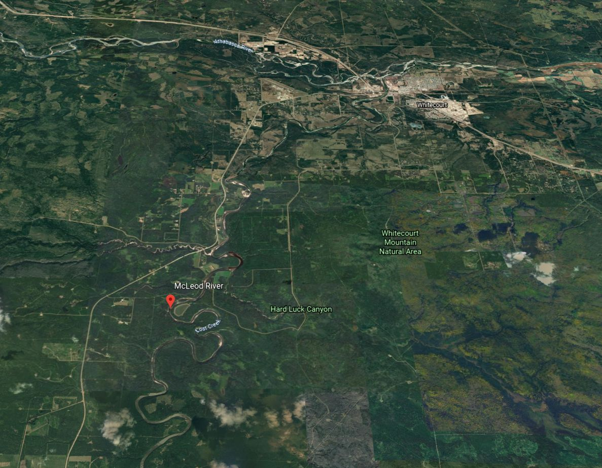 Whitecourt RCMP say a 31-year-old man's body was found in the McLeod River an hour after he reportedly fell into the water and did not surface on Monday, July 6, 2021.