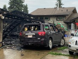 Continue reading: Garage destroyed by fire in west Edmonton