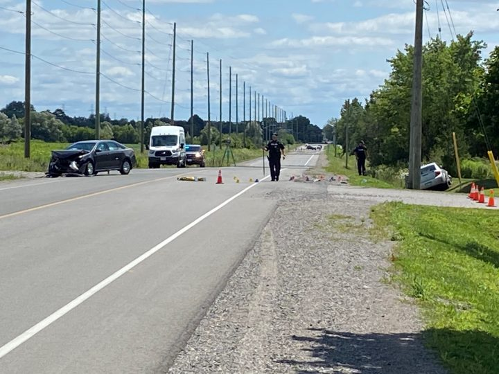 The scene of the crash on Ritson Road North on Friday.