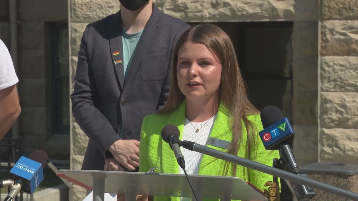 """Marley Gillies, chair of the Calgary Students Alliance and pictured on July 13, 2021, is calling on Elections Calgary to reverse its decision and allow """"vote anywhere"""" advance polling in the 2021 municipal election."""