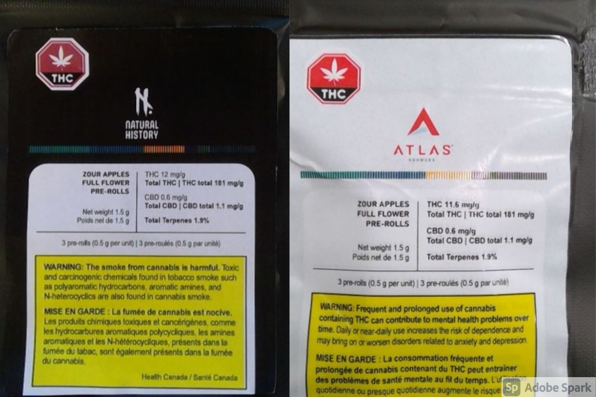 Two examples of the affected items voluntarily recalled by Atlas, as posted on Health Canada's website.
