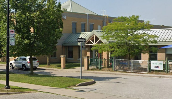 The exterior of Rouge Valley Public School is seen in a 2019 file photo.