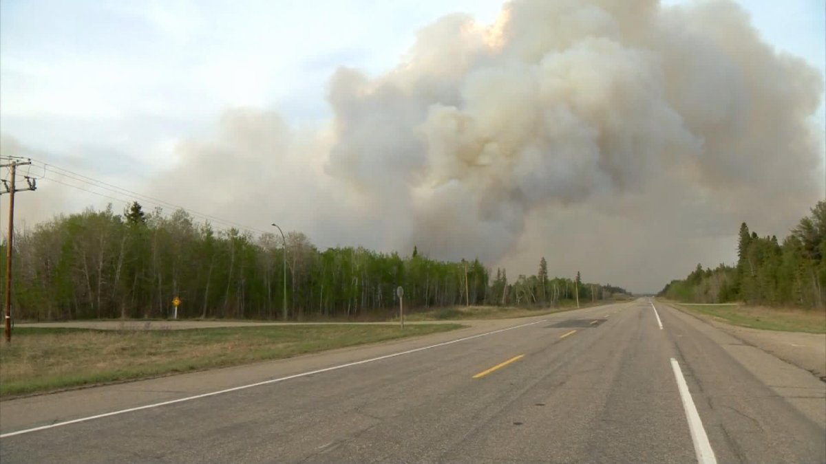 Environment Canada said smoke from wildfires is causing poor air quality and reduced visibility as it continued a special air quality statement for northern Saskatchewan.