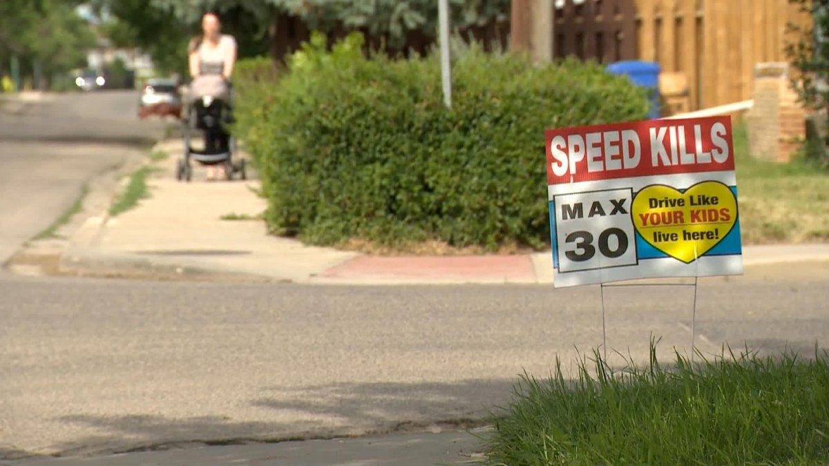 """Ward 3 Coun. Andrew Stevens said the signs, which state """"speed kills"""" and urges drivers to """"drive like you kids live here,"""" were the idea of an area resident."""