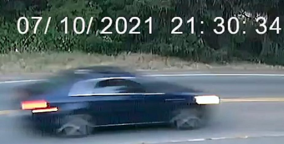 RCMP released a blurry image of a suspect vehicle related an assault in Nanaimo.