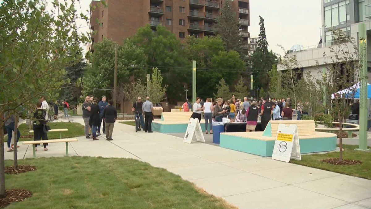 Lois Szabo Commons, a new park in the Beltline, officially opened July 21, 2021.