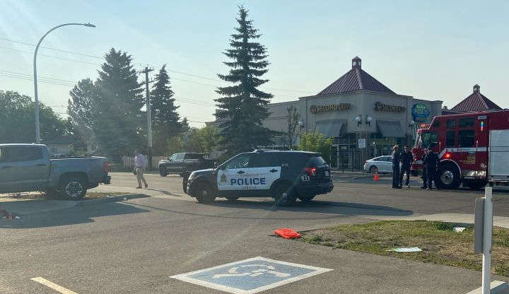 Police are investigating after officers found two people they believe had been shot after they were called to a weapons complaint in west Edmonton on Friday afternoon.