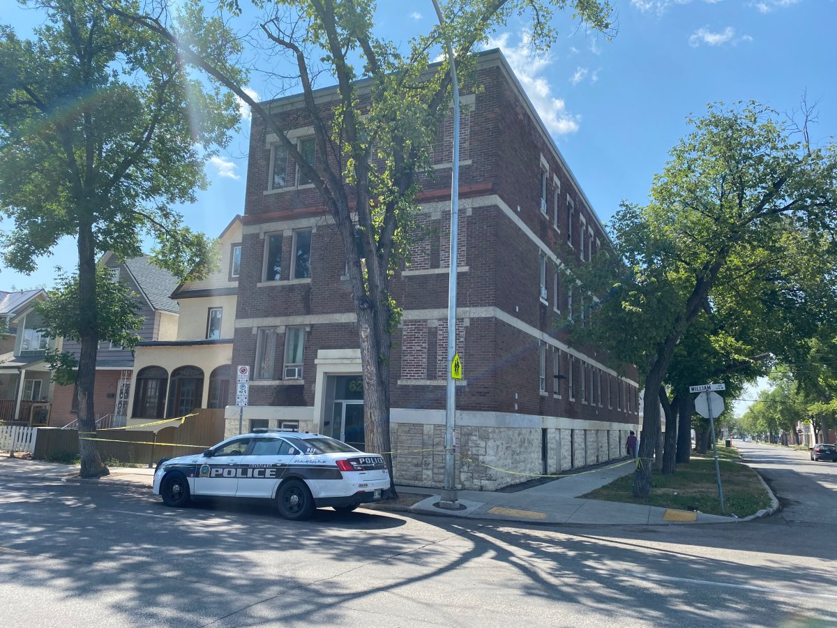 Eight people were displaced after a fire broke out in a three-storey apartment in Winnipeg's Centennial neighbourhood, according to the city.