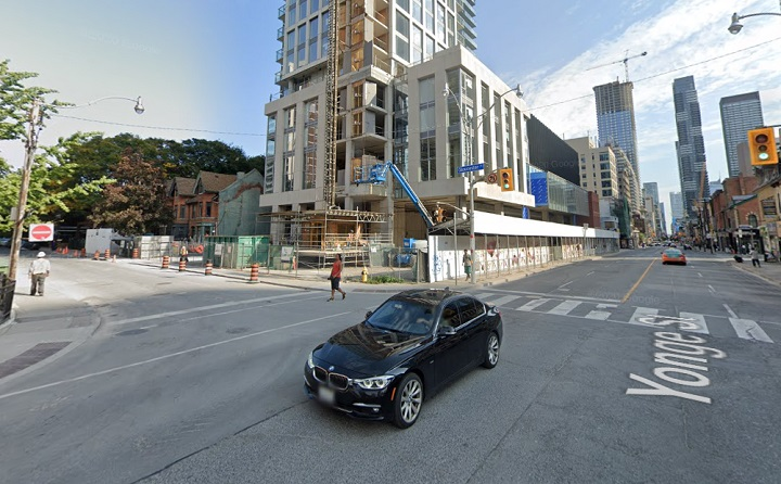 A Toronto police statement said the incident happened near Yonge and Gloucester streets.