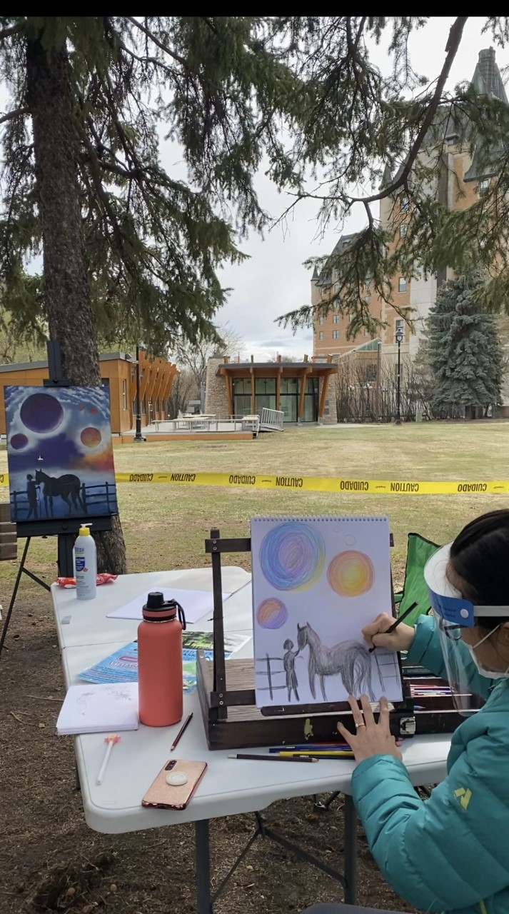 Every Saturday Art by the River offers a free art class from 2 p.m. until 4 p.m. for kids to learn new skills.