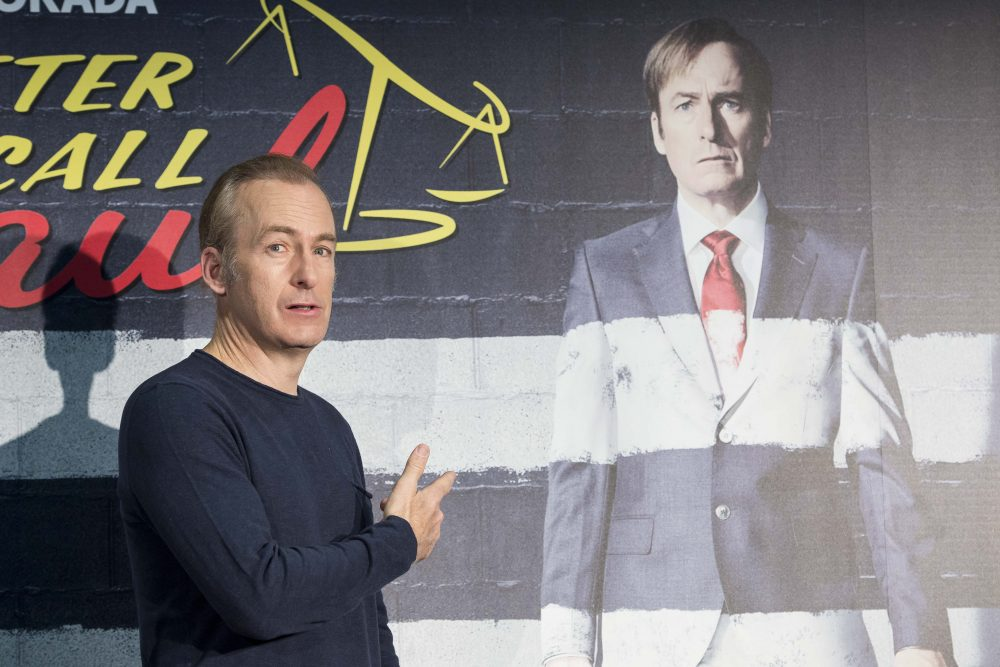 Actor Bob Odenkirk attends the Better Call Saul photocall at Telefonica flagship store on April 18, 2017 in Madrid, Spain.