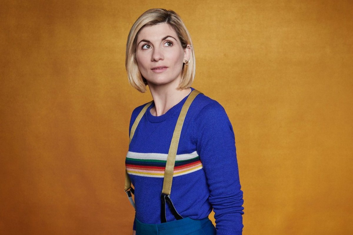Jodie WHittaker is shown as the Doctor in this promotional image for 'Doctor Who.'.