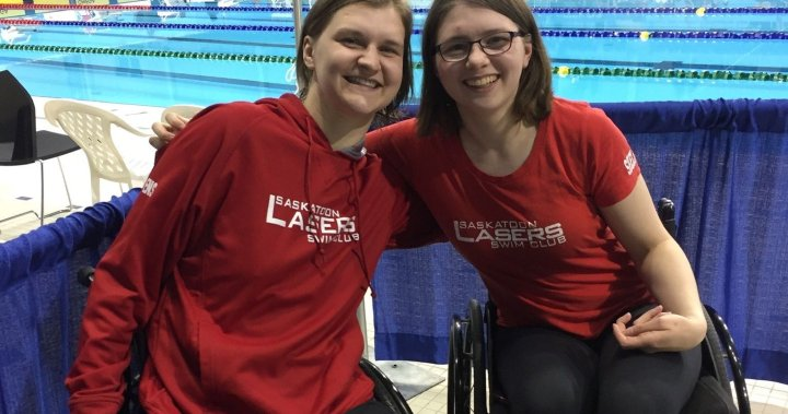 Saskatchewan swimmer recruits crash victim; both now heading to Tokyo Paralympic Games   Globalnews.ca