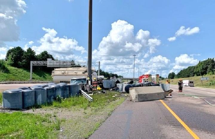The scene of the crash on Highway 410 Wednesday.