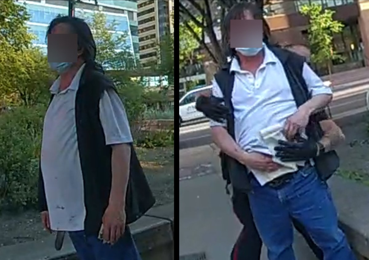 On Sunday, July 4, 2021, Calgary police released pictures of the victim taken by officers' body-worn cameras in the hope that his clothing will be recognized by any potential witnesses. Police obscured his face in the photos because he cannot be publicly identified until after the autopsy.