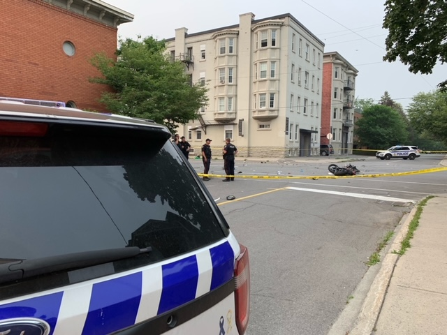 A 38-year-old man has died while riding an e-bike after a crash with a vehicle in Sandy Hill, Ottawa police say.