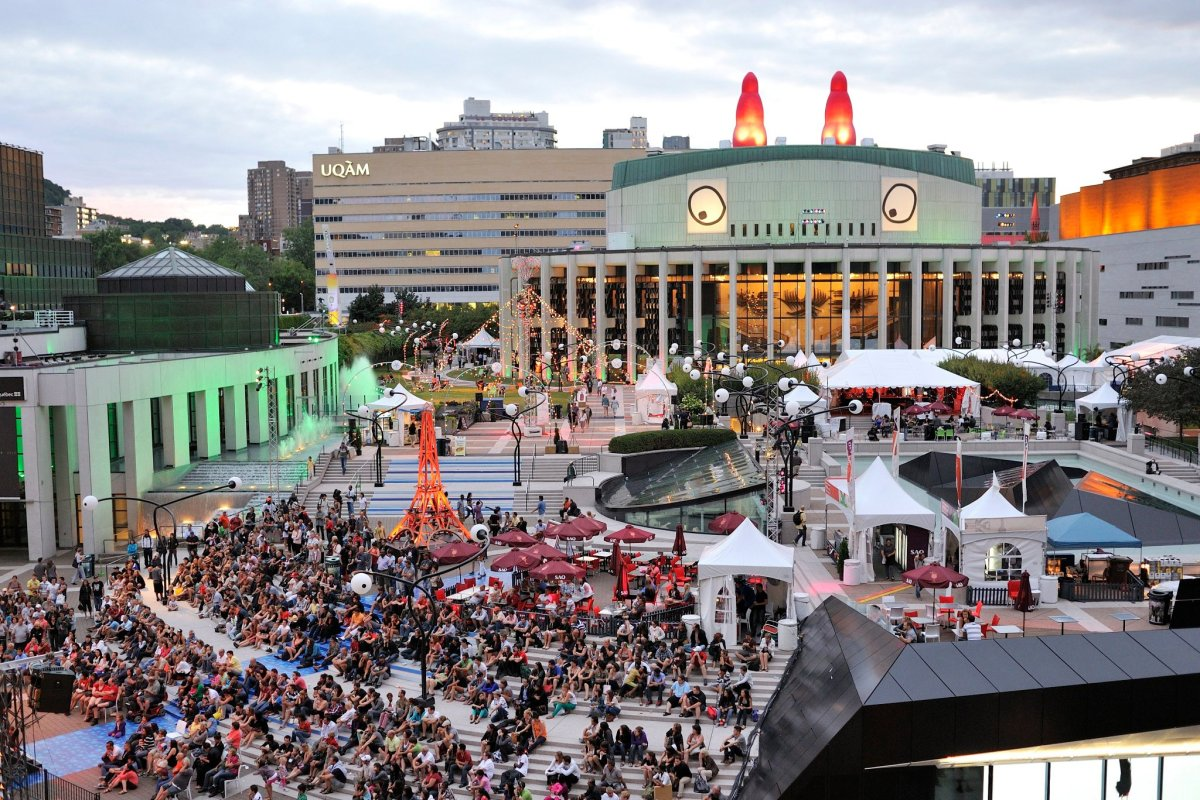 A general view of the Just For Laughs festival in Montreal on July 24, 2012.