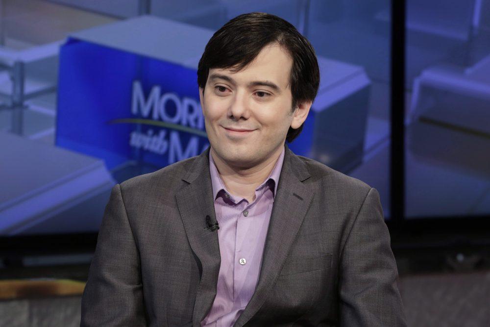 In this Aug. 15, 2017 photo, Martin Shkreli is interviewed on the Fox Business Network in New York.