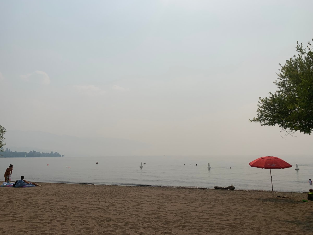 Smoke blanketing the Okanagan is not expected to dissipate anytime soon.