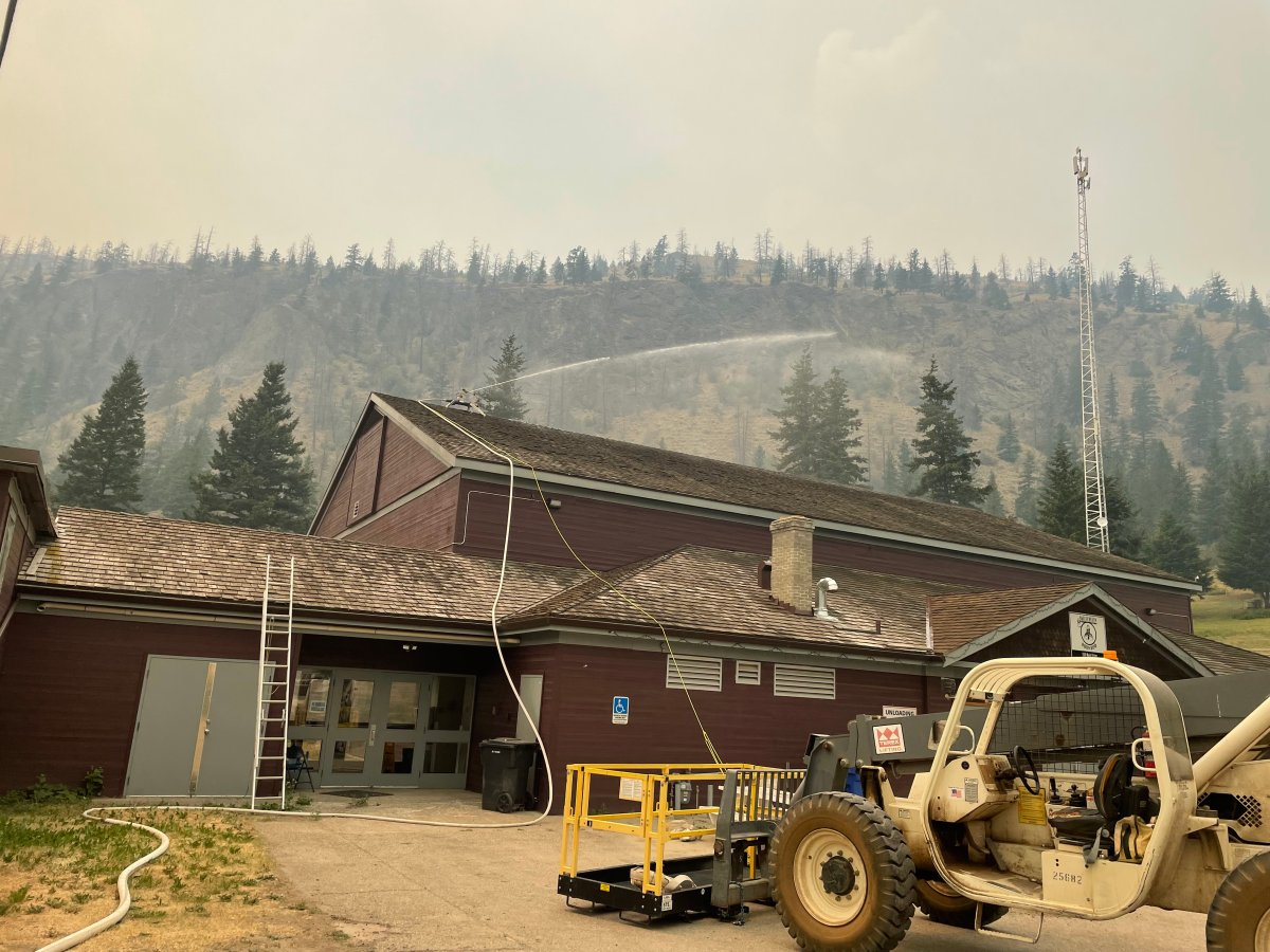 Fighting the Sparks Lake wildfire.