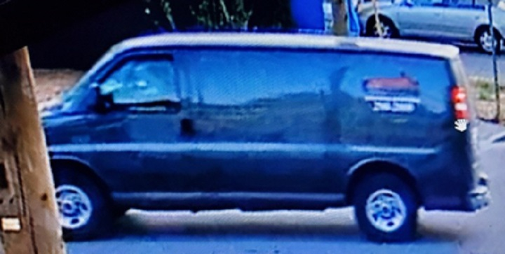 Coquitlam RCMP is looking for the driver of this van.