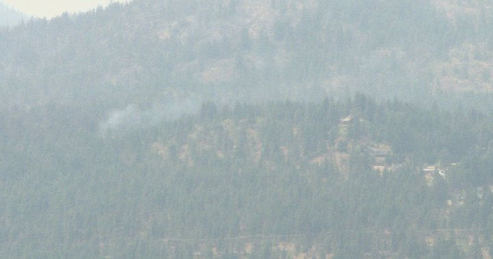 Lull in White Rock Lake Fire activity near Okanagan Lake expected to be temporary