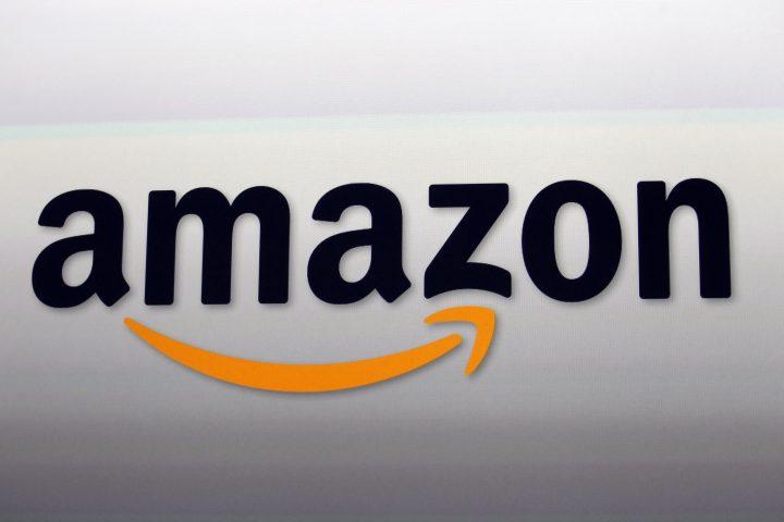 This Sept. 6, 2012, file photo, shows the Amazon logo in Santa Monica, Calif.