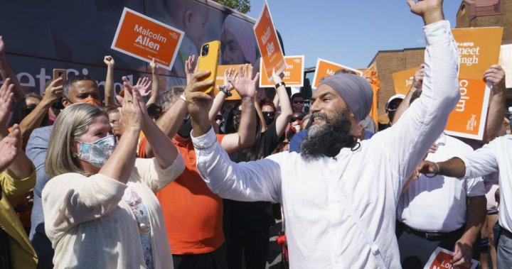 NDP's Singh faces Fairy Creek protesters during campaign stop in Toronto