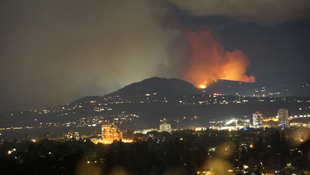 A wildfire ignited above Peachland on Sunday, prompting evacuation orders and alerts.