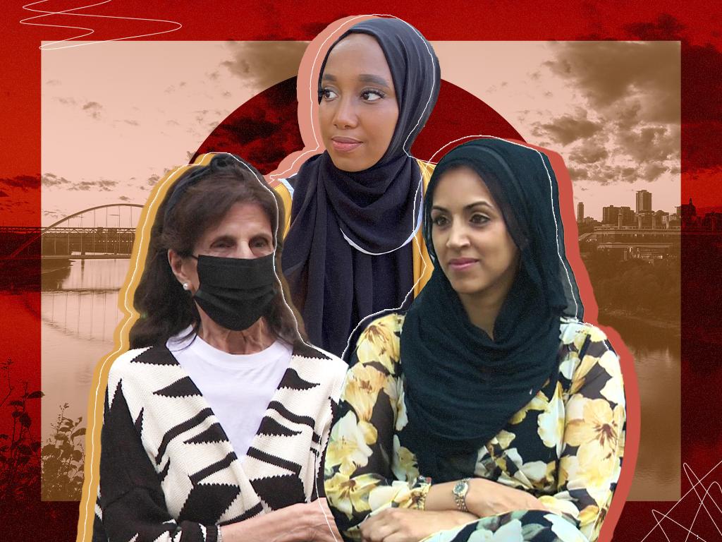 Three generations of Muslim women in Edmonton.