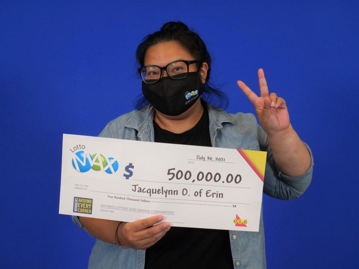 Jacquelynn Onilla of Erin, Ont., won $500,000.