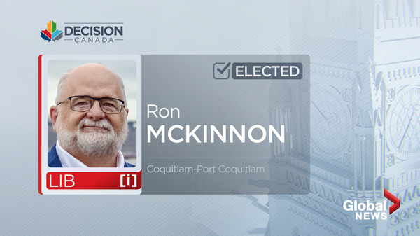 Ron McKinnon is projected to keep his seat in Coquitlam-Port Coquitlam.