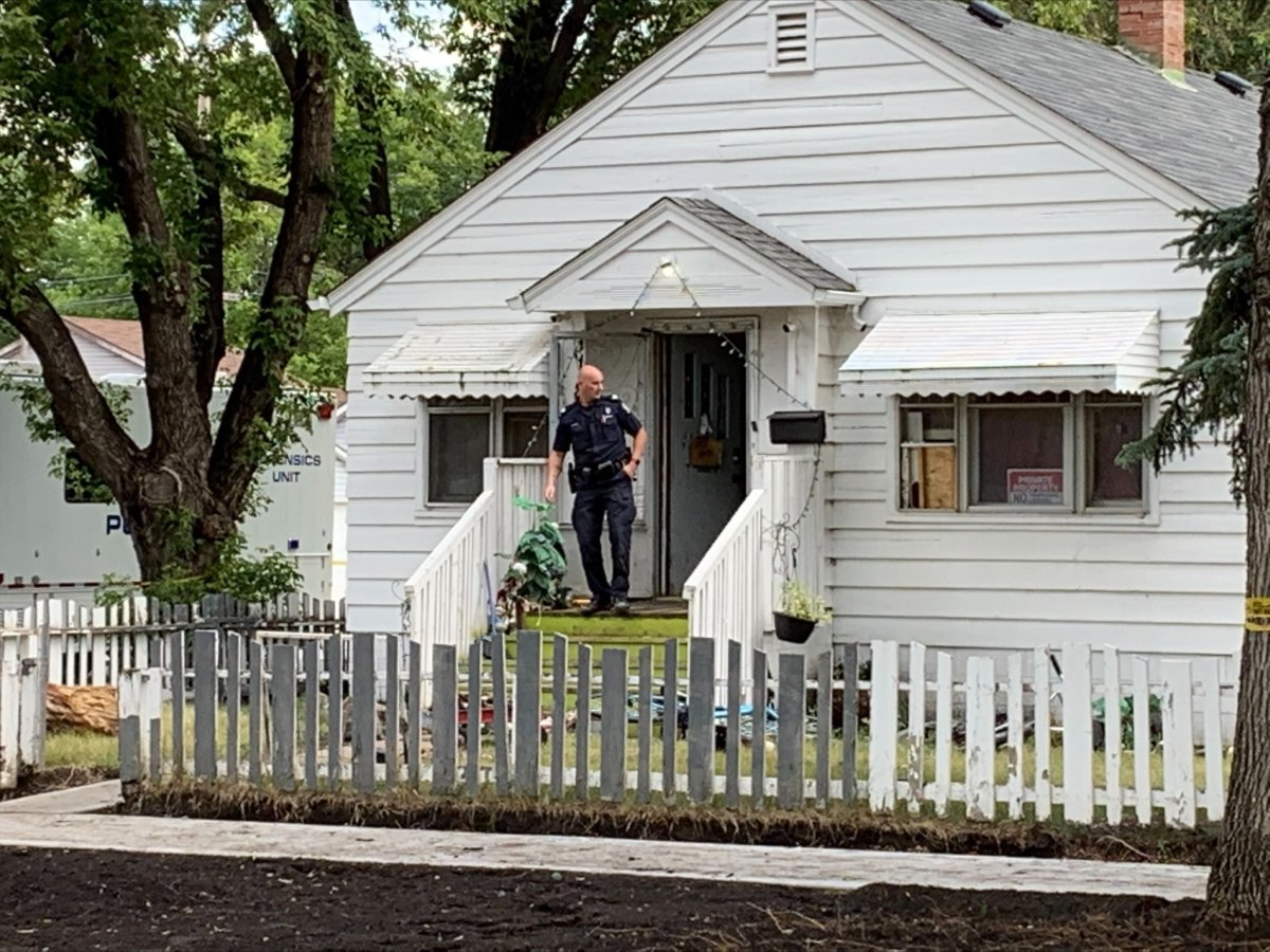 Edmonton police investigating at a home on 79 Street, near 119 Avenue, in the Eastwood neighbourhood on Tuesday, August 24, 2021.