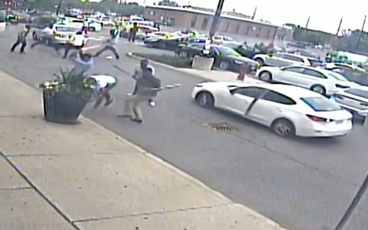 Police released a brief surveillance video Tuesday appearing to show part of the assault.