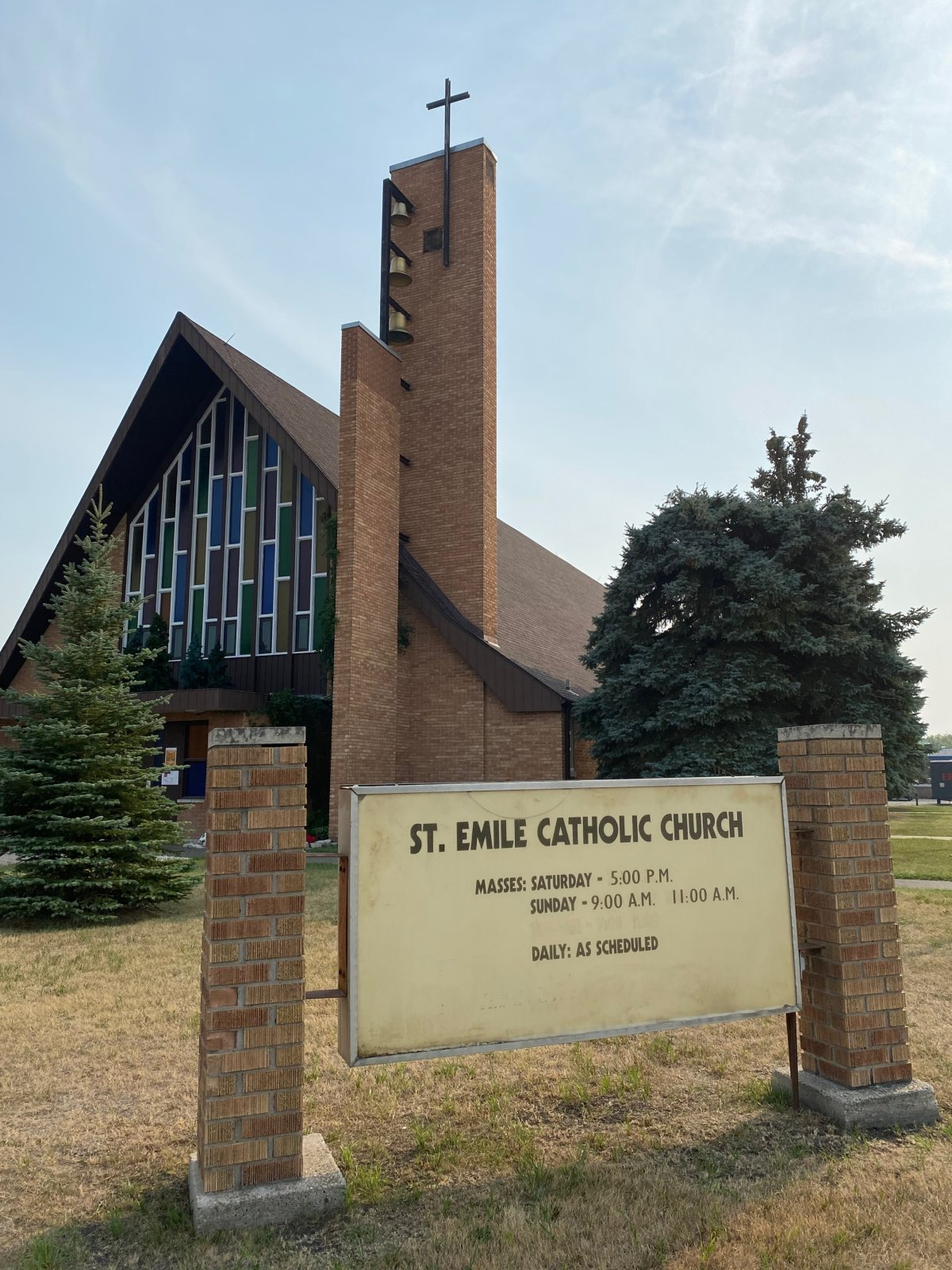 """The Archdiocese of Saint Boniface says it decided to cancel mass at St. Emile Catholic Church in Winnipeg after police warned """"angry"""" comments were made against the church on social media."""