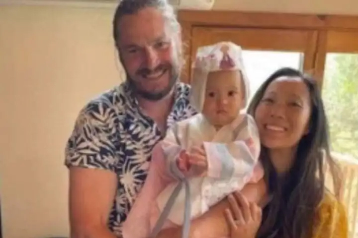 Jonathan Gerrish, Ellen Chung and their daughter, Miju, are shown in this group photo.