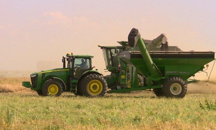 Harvest is 29 per cent complete in Saskatchewan.