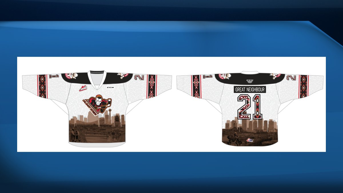 The Calgary Hitmen unveiled this great neighbour jersey on Friday, Aug. 20, 2021.