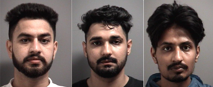 Photos of the 3 men arrested.