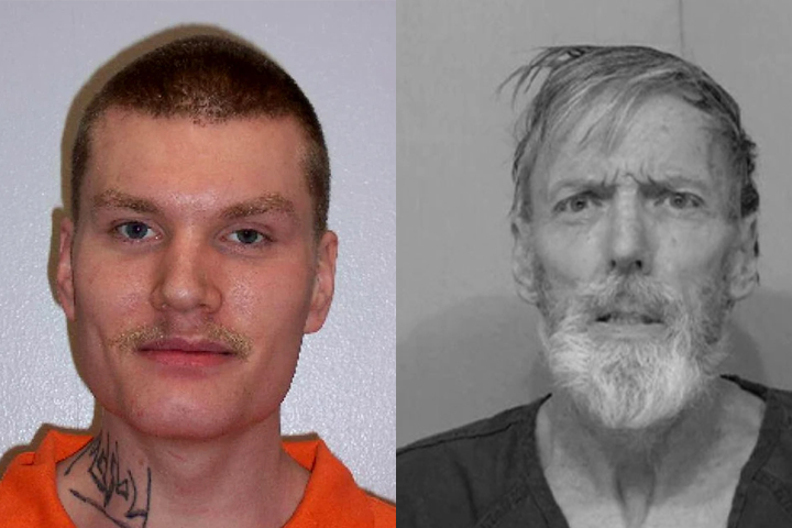 Shane Goldsby, left, was convicted of murder in the death of his Washington prison cellmate Robert Munger, right.