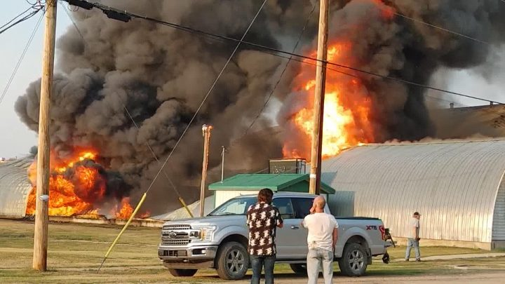 The Shell Lake curling rink burned down Saturday, Aug. 14, 2021, after a fire. The cause is still under investigation.