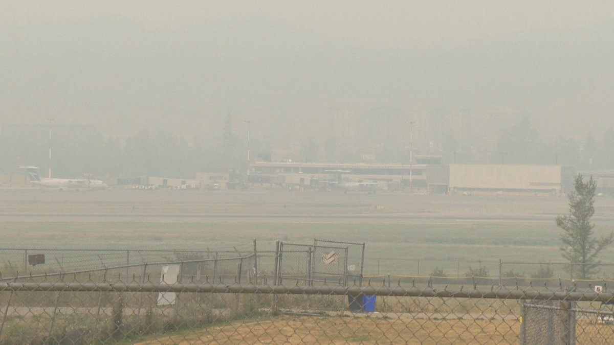 A no-fly zone issued by the BC Wildfire Service in the vicinity of the White Rock Lake wildfire is hampering operations at Kelowna International Airport (YLW).
