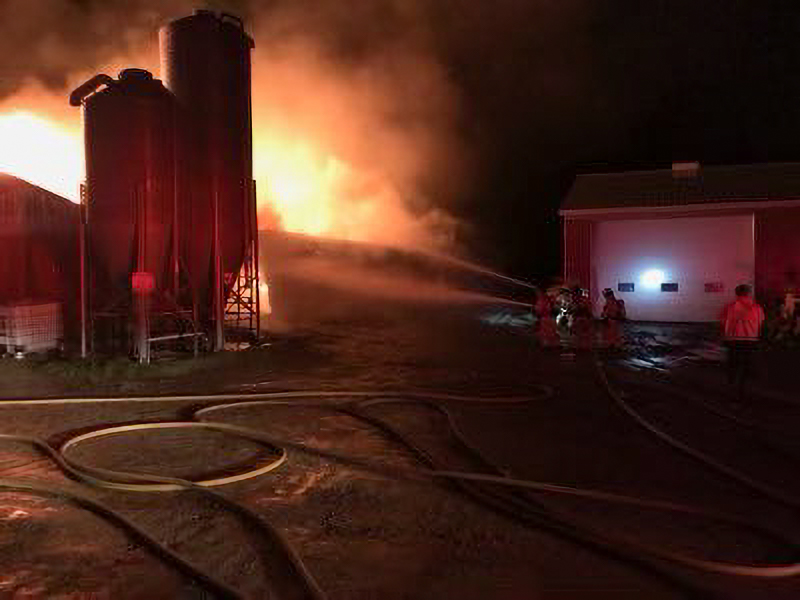 Fire crews responded to the scene on Westminster Drive around 10 p.m. Thursday for reports of a fully involved structure fire.
