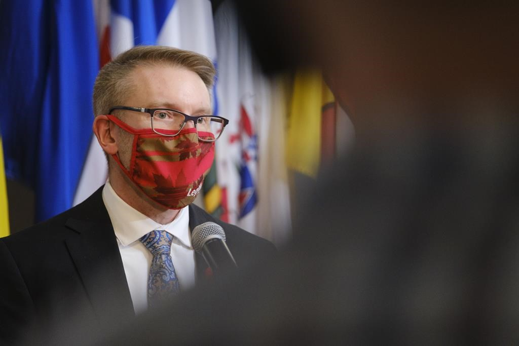 Seniors Minister Everett Hindley is shown at Government House in Regina on Monday, Nov. 9, 2020. The Saskatchewan Health Authority will continue to oversee all five Extendicare long-term care homes in the province for at least another month.
