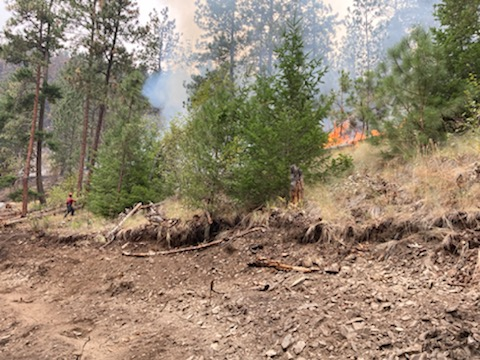 The White Rock Lake wildfire has been reclassified to being held.