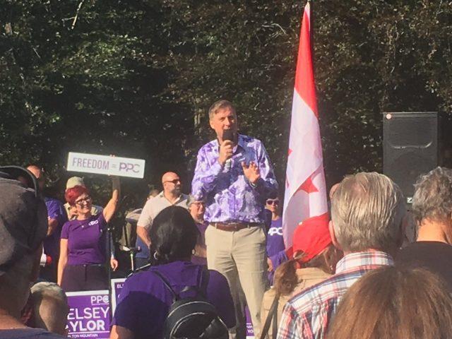 PPC leader Maxime Bernier rallies supporters in Hamilton - image
