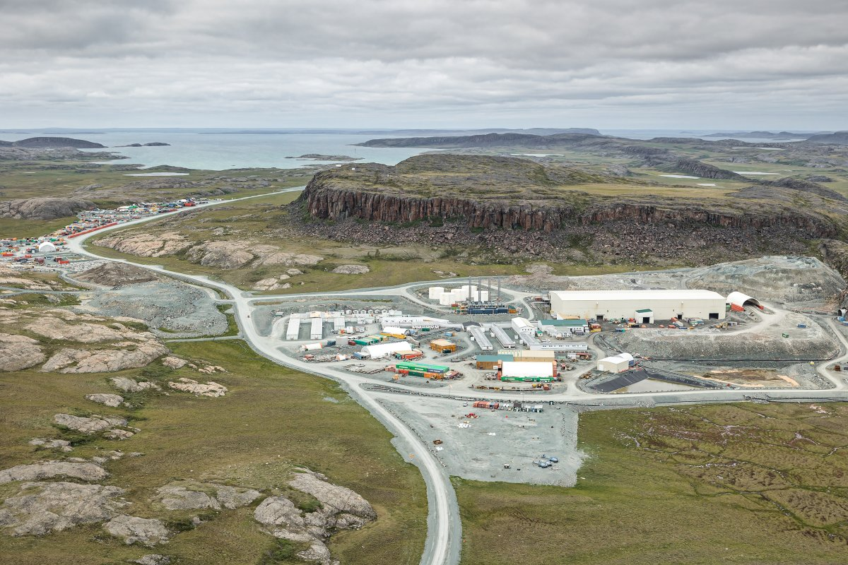 The Agnico Eagle Hope Bay gold mine is shown in Nunavut.