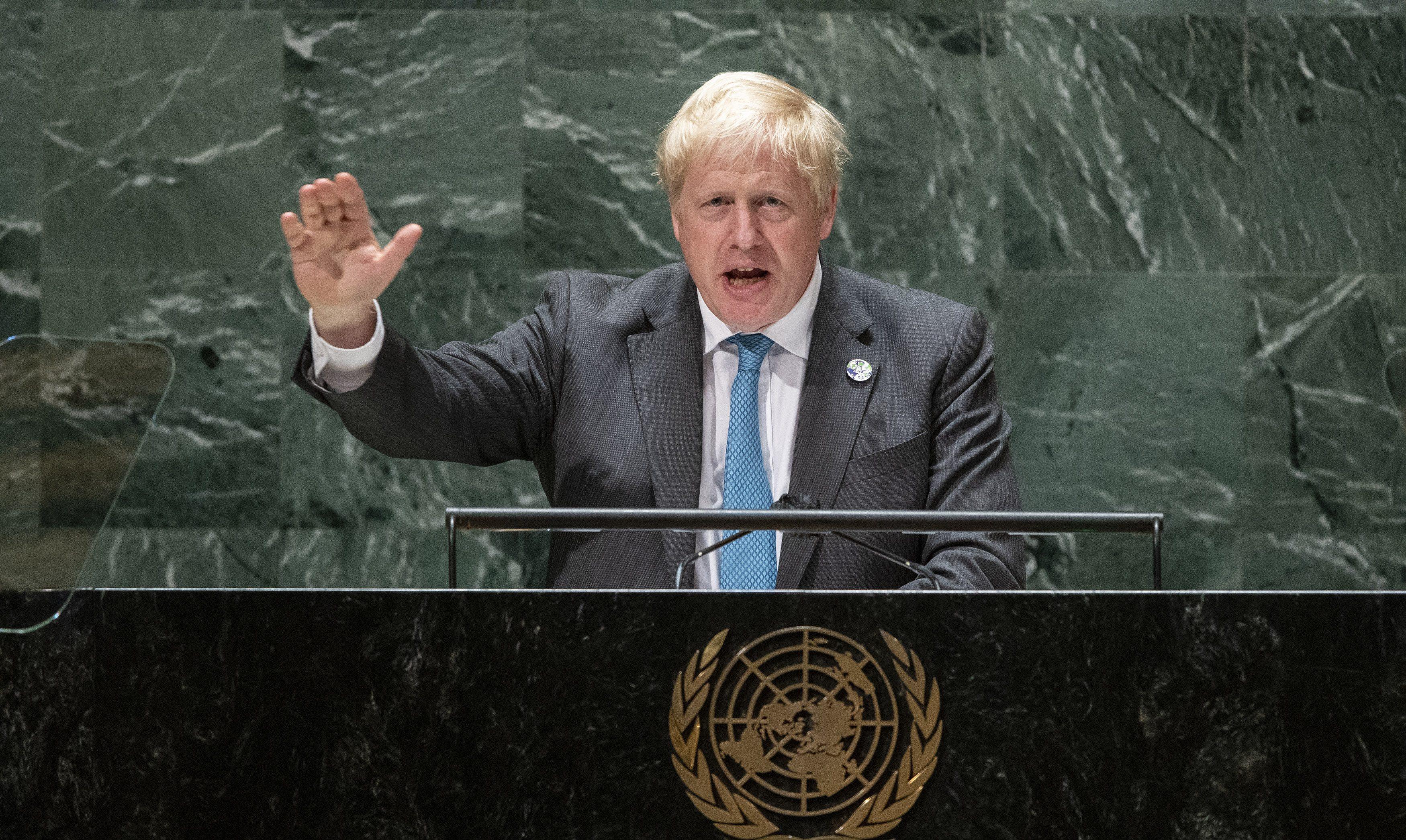 U.K.'s Boris Johnson says humanity needs to 'grow up,' face climate crisis at U.N.